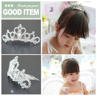 New 2014 Summer children Kids Hair party accessories Kids headwear Headband crown diamond hair combs Fashion Retail