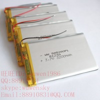 Free shipping WW585280 N50 ppt batteries MP5 Yuandao tablet computer battery 3.7V3200MAH thick 6* wide and 52* long and 80 (mm)