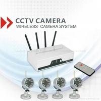 4ch digital realtime dvr cctv system wireless camera