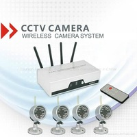4ch digital realtime dvr cctv system wireless camera
