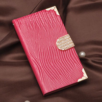 Luxury Rhinestone Diamond Bling Hand Bag PU Leather Crocodile Flip Cover Case Wallet for Samsung Galaxy note 2 N7100 case