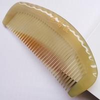 Natural horn comb Small stintingly bags wooden comb