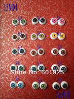 AceWill (15pairs) half Round Acrylic Doll Eyes Eyeballs 15mm 1/6 bjd/sd Doll eyes 30Pcs Mixed Colors