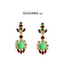 Freeshopping 2014 New Design Fashion Colorful crystal Beads Drop Earrings for womenJewelry Earrings dropshipping E
