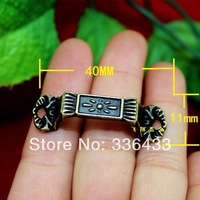 40 * 11 antique zinc alloy flower handle / drawer small pull / pull hand jewelry box / decorative handle