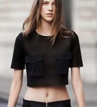 wholesale black mesh shirt