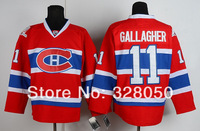 Free Shipping wholesale Ice Hockey jerseys Montreal #11 Brendan Gallagher Red Jerseys,Factory direct supply