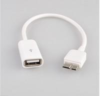 Free Shipping Micro USB B 3.0 Host USB OTG Cable Adapter for Samsung Galaxy Note 3 N900 N9000 N9002 N9005 N9008 OTG Cbale White