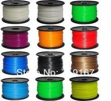 wholesale multicolor reprap ABS material 1.75 mm 1kg 3D printer ABS filament  20pcs DHL/FEDEX free shippment