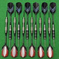 12 Pcs/Set 22g Nickel-plated Darts Needle Black Coral Aluminum Dart Shaft Laser Light Dart Flight 20g Imitation Tungsten Darts