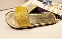 sale!FASTER!  fashionville* j828 3 colors glitter slides flat sandals