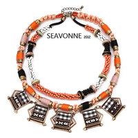 Freeshopping 2014 fashion statement necklace Manual Retro necklaces & pendants short Necklace  N
