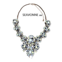 2014 shourouk wind spell Crystal jewelry necklace nacklace women fashion statement Dress party necklaces & pendants
