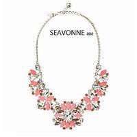 New Fashion 2014 Women JC Luxury Resin Body Jewerly Retro Sweater Chain Flower Choker Nacklace Statement Colar Pendant Necklace