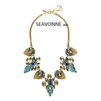 2014 shourouk wind spell color film Bright Crystal jewelry necklace nacklace women fashion statement necklaces & pendants
