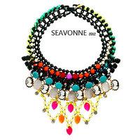 New Fashion 2014 European style luxury gems long necklace of flowers nacklace women fashion statemen