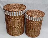 Wicker rattan straw braid circle set laundry basket dirty clothes basket laundry basket Large 44 58