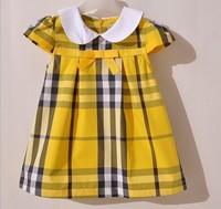 Summer girl plaid Dresses Hot Sale New Arrive Korean Style Dress Princess Party dress children Brand Clothing 5pcs/lot wholesale
