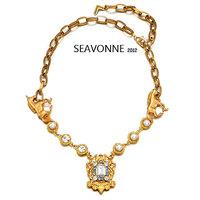 New Fashion 2014 European style crystal gold Unicorn necklace women fashion statemen