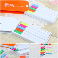 New Free Shipping 5pcs set Student stationery solid candy color jelly neon pen boxed marker  gift pen