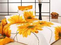 New king size gold sunflower bedding,4pc bedding set without filler,500TC cotton sunflower bedspreads,king size sunflower duvet