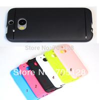 100pcs/lot Matting Line Series TPU Gel Case For HTC One 2 M8