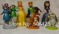 Free shipping 6pcs/set,pricness Sofia figure doll Sofia The First gift toys princess sofia action figures toys