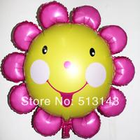 New ! Free shipping 20 PCS / LOT aluminum balloons helium balloons birthday party decoration wholesale large sunflowers
