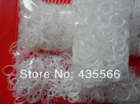 LOOM RUBBER BAND REFILL, CLEAR JELLY 600 Bands with 24clips