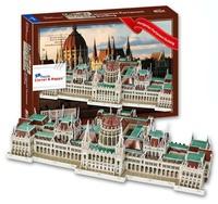 DIY Hungary Famous Building 3D Puzzle Toys Colorful PrintHungarian Parliament Building Jigsaw 237 Pc's Set