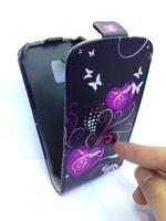 Flip Leather Case Cover For Samsung Galaxy S Duos S7562 Fashion Flower Butterfly Lucky Star Printing Patterns