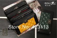 High Quality Famous Brand Women's Wallet 2014 Fashion Lady Leather Purse Classic zipper Bag Women Free Shipping