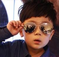 New 2014 Children party accessories Glasses 2 color Mercury Baby Kid Male Female Child Men Women anti-uv Fashion Sunglasses