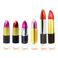 Free shipping Hot-Selling Metal multi-colors pretty lipstick model 8GB 16GB 32GB USB 2.0 Flash Memory Stick Driver U Disk USB447