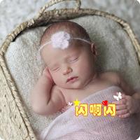 Fx04 mohair headband yarn hair band small flower hair band baby hair bands 2
