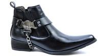 new 2014 men's genuine leather shoes / high shoes / men boots / men flats / casual men american west of cowboy boots