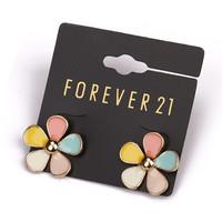 Fashion fashion accessories earrings vintage gold peacock trend gem flower drop earring female