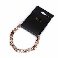 Fashion retro finishing gold accessories rhinestone heart chain bracelet female male