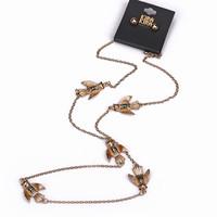 Fashion accessories necklace gold elegant multi-colored glaze accessories female long design necklace