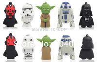 4GB 8GB 16GB 32GB Starwars R2-D2 Yoda White Trooper Darth Vader vice USB flash drive 2.0 Pen memory U disk