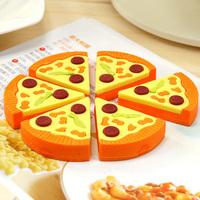 6 pcs/set Stationery high artificial pizza eraser novelty gift eraser