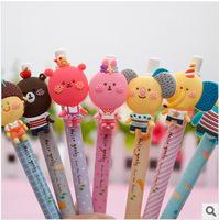 12 pcs/pack Stationery animal unisex pen soft rubber pen