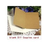 Wholesale Craft Gifts Scrapbooking Paper Kraft Card Christmas Postcards 50PCS/LOT DIY Book marks Homemade couples card