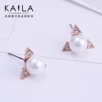 Kaila moon stud earring female fashion pearl earrings earring anti-allergic accessories new arrival