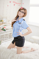 Hong Kong porn suit uniform temptation sexy female police uniforms sexy lingerie ladies skirts slit