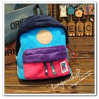 Child baby child male female child bape coral fleece backpack school bag parent-child bag fashion