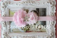 Cute Baby Girl flower Headband-Shabby Rhinestone Flower Headband