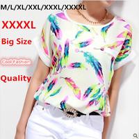 2015 Spring Female T Shirt Bright Color XXXL 4XL Plus Size Camisas Femininas Women Tops Tee Shirt Summer Clothing T Shirt Women