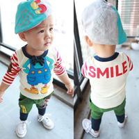 2013 children's autumn clothing t-shirt cartoon casual long-sleeve male children child t-shirt infant clothes