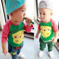 2013 autumn child T-shirt long-sleeve shirt baby autumn and winter clothes 100% cotton children
